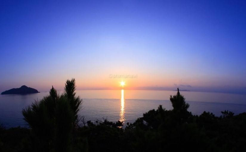 女瀬の崎展望台(夕日)
